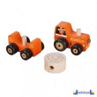 Drveni magnetni traktor 3 dela