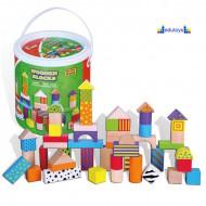 Drveni šareni blokovi u kutiji 50 elemenata
