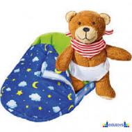Plišani meda u vreći za spavanje