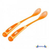 Set kašika sa dugačkom drškom narandžasta 2 kom