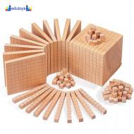 Drvena kocka desetica u natur boji