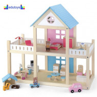 Drvena kućica za lutke DOLLHOUSE