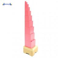 Montesori Pink kula 10 kocki
