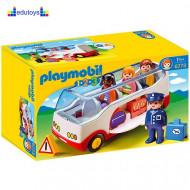 Playmobil 1.2.3 Autobus do aerodroma