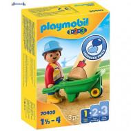 Playmobil 1.2.3 Radnik sa kolicima