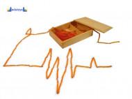 Montesori Lančići za računanje 10,100,1000 sa drvenom kutijom