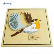 Montesori Puzzla ptica drvena puzzla