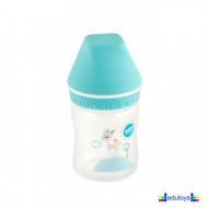 Plastična flašica USPAVANA ŠUMA sa širokim grlom plava 125 ML silikon