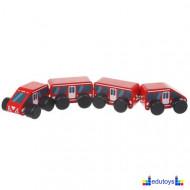 Drveni voz sa magnetom 4 elementa