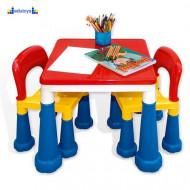 Kreativno didaktički stočić sa stolicama 2in1