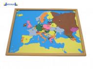 Montesori Puzzla Evropa umetaljka i puzzla