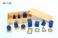 Montesori Set geometrijskih tela oblici i baze