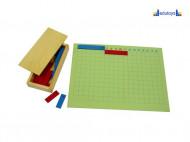 Montesori Tabla matematičkih operacija oduzimanje 12 redova i 18 kolona