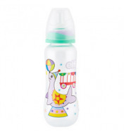"Plastična flašica SUPER CLEAR ""CIRCUS"" 250 ml silikonska cucla"