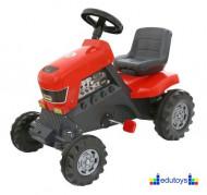 Traktor na pedale crveni