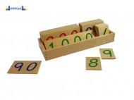 Montesori Drvene numeričke pločice 1-1000 veće sa drvenom kutijom