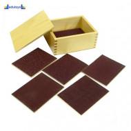 Montesori Taktilne pločice na šmirgl papiru - drvena kutija