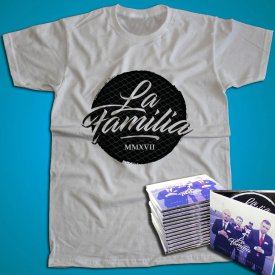 """Pack 1 Tricou Oficial La Familia LOGO + 1 album """"La Familia - Codul Bunelor Maniere"""""""