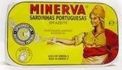 Imagens Sardinhas Minerva em Azeite 120g