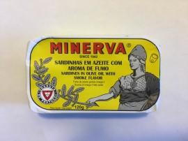 Imagens Sardinhas Minerva em Azeite Aroma a Fumo 120g