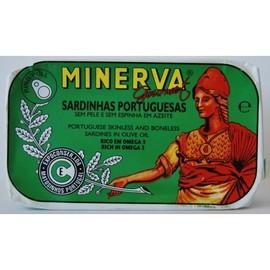 Imagens Sardinhas Minerva sem Pele sem Espinhas em Azeite 120g