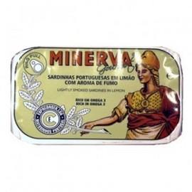Imagens Sardinhas Minerva Azeite e Limão com Aroma a Fumo 120g