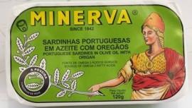Sardinhas Minerva em Azeite e Oregãos 120g