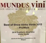 """Alvarinho """"Vinho Verde"""" wine Soalheiro 0,75l"""