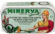 Minerva Filetes Cavala em Azeite Picante com Pickles 120g