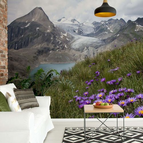 Color Between Mountains Photo Wallpaper Mural