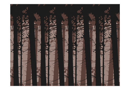 Fototapet - Abstract dark forest