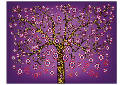 Fototapet - abstract: tree (violet)