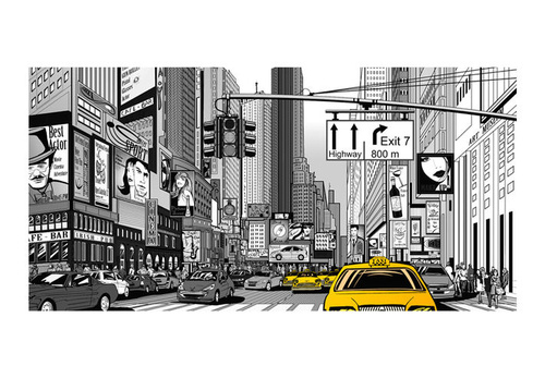 Fototapet XXL - Yellow cabs in NYC