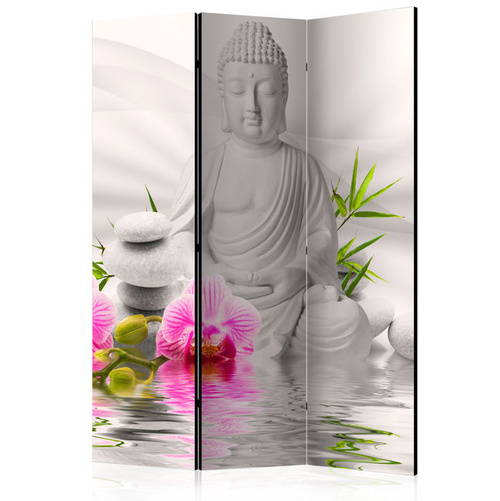 Paravan - Buddha and Orchids [Room Dividers]