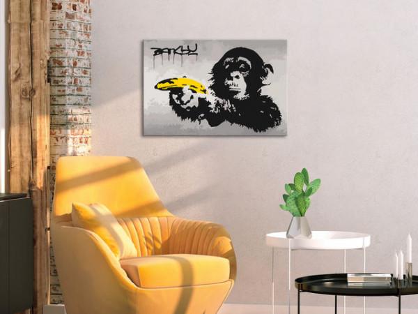 Pictatul pentru recreere - Monkey (Banksy Street Art Graffiti)