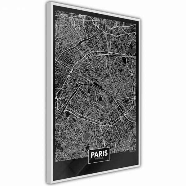 Poster - City Map: Paris (Dark)