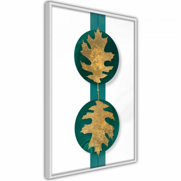Poster - Gilded Oak Leaves
