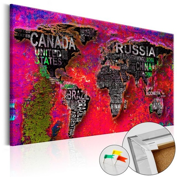 Tablou din plută - Red Earth [Cork Map]