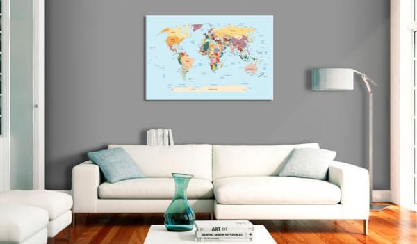 Tablou din plută - Travel with Me [Cork Map]
