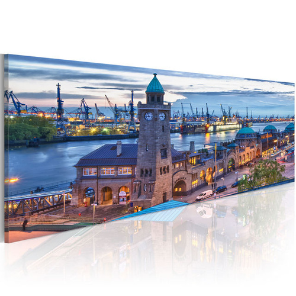 Tablou - Hamburg - port