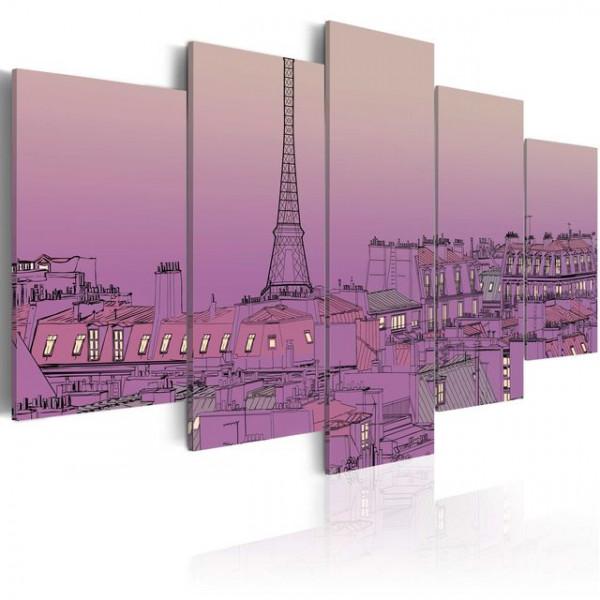Tablou - Lavender sunrise over Paris
