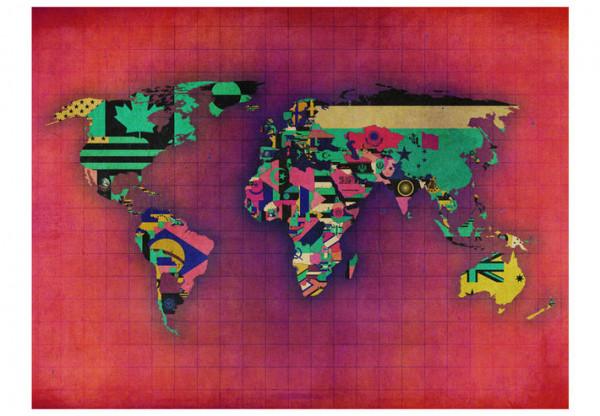 Fototapet - Avant-garde World map