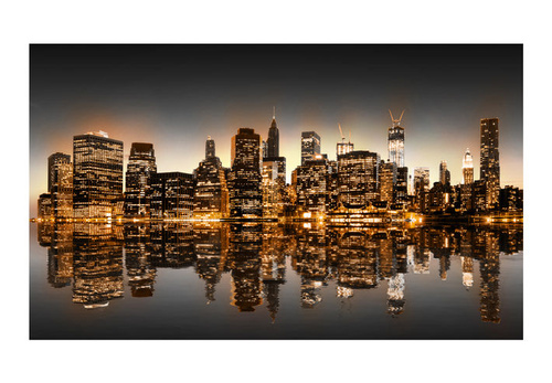 Fototapet - New York and gold