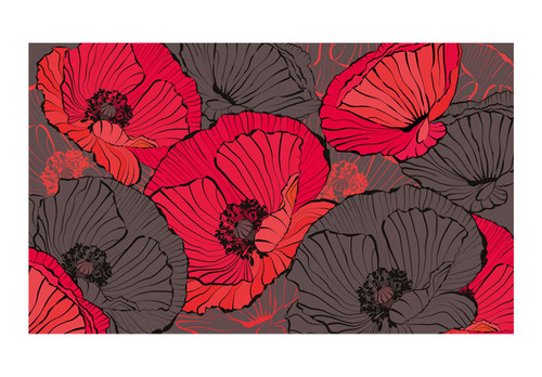 Fototapet - Pleated poppies