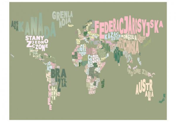 Fototapet - Poland. continents. world.