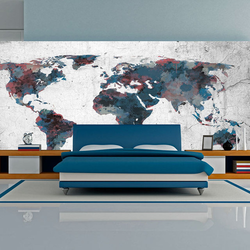 Fototapet XXL - World map on the wall