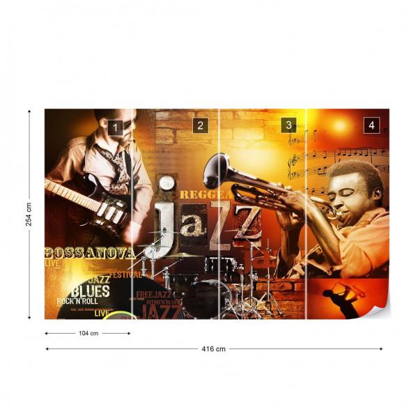 Jazz Music Photo Wallpaper Wall Mural