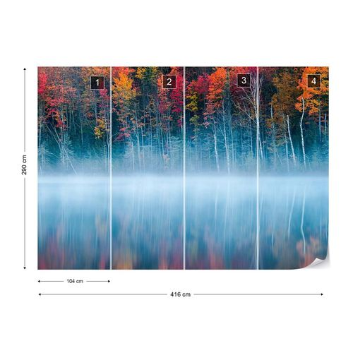 Morning Reflection Photo Wallpaper Mural