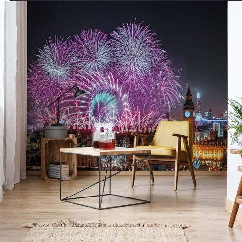 New Year Fireworks Photo Wallpaper Mural