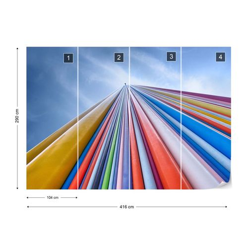 Rainbow From A Cloud Photo Wallpaper Mural
